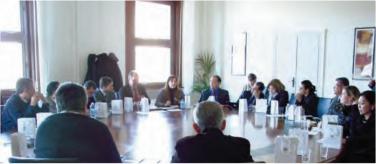 Interpretação consecutiva da reunião entre a Missão Técnica da ASBRAER e especialistas da Universidade de Florença na Itália