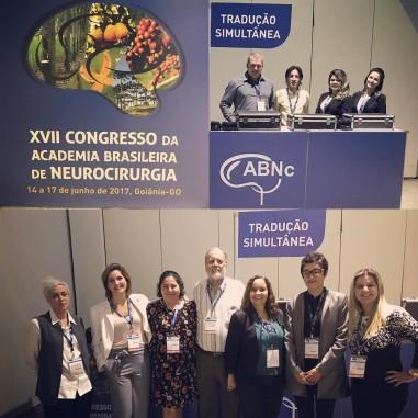 Interpretação simultânea no Congresso da Academia Brasileira de Neurocirurgia em Goiânia