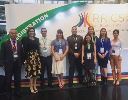 Interpretação simultânea no V Congresso sobre Concorrência dos BRICS